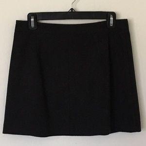Wool skirt - charcoal grey - vintage